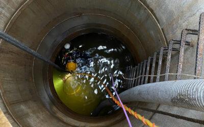Reinigung von Drainageleitungen