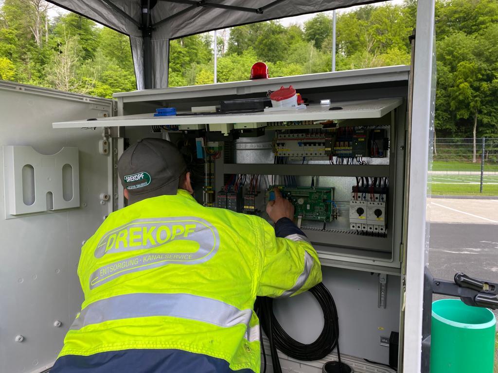 Inbetriebnahme einer Pumpstation in Essen