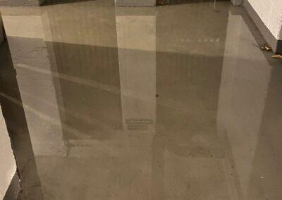 Überfluteter Keller nach Starkregenfällen