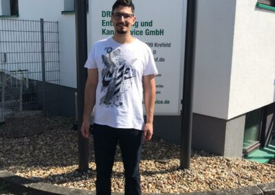 Azubi Eran Bal für die Firma Grubenblitz